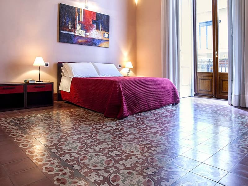 Camera Deluxe Bed and Breakfast Catania Antiche Volte letto