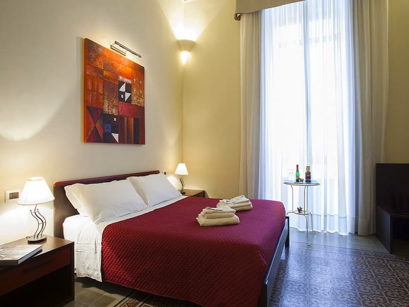 Camera Superior Bed and Breakfast Catania Antiche Volte Letto